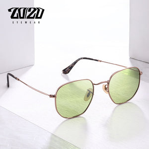 20/20 Brand Unisex Sunglasses Men Polarized Vintage Square Retro Metal 17033-2