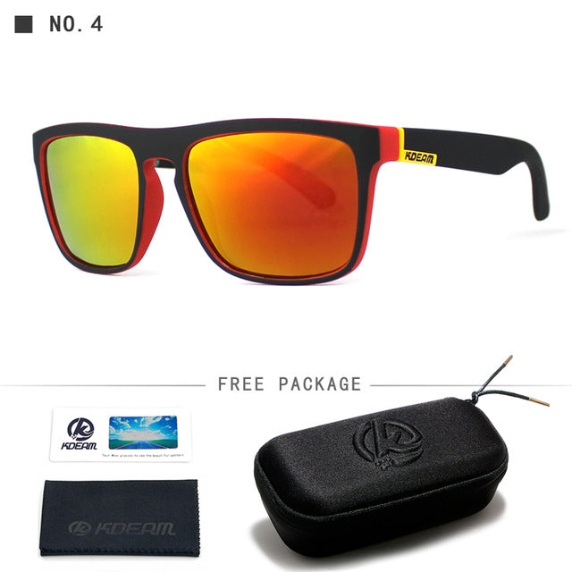 Kdeam Brand Mens Flat Top Polarized Square Sunglasses Anti Reflective Uv400 156P