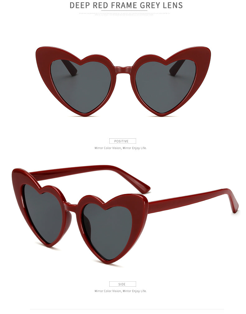 Toexplore Ws78 Cat Eye Women Sunglasses Retro Luxury Love Heart Uv400