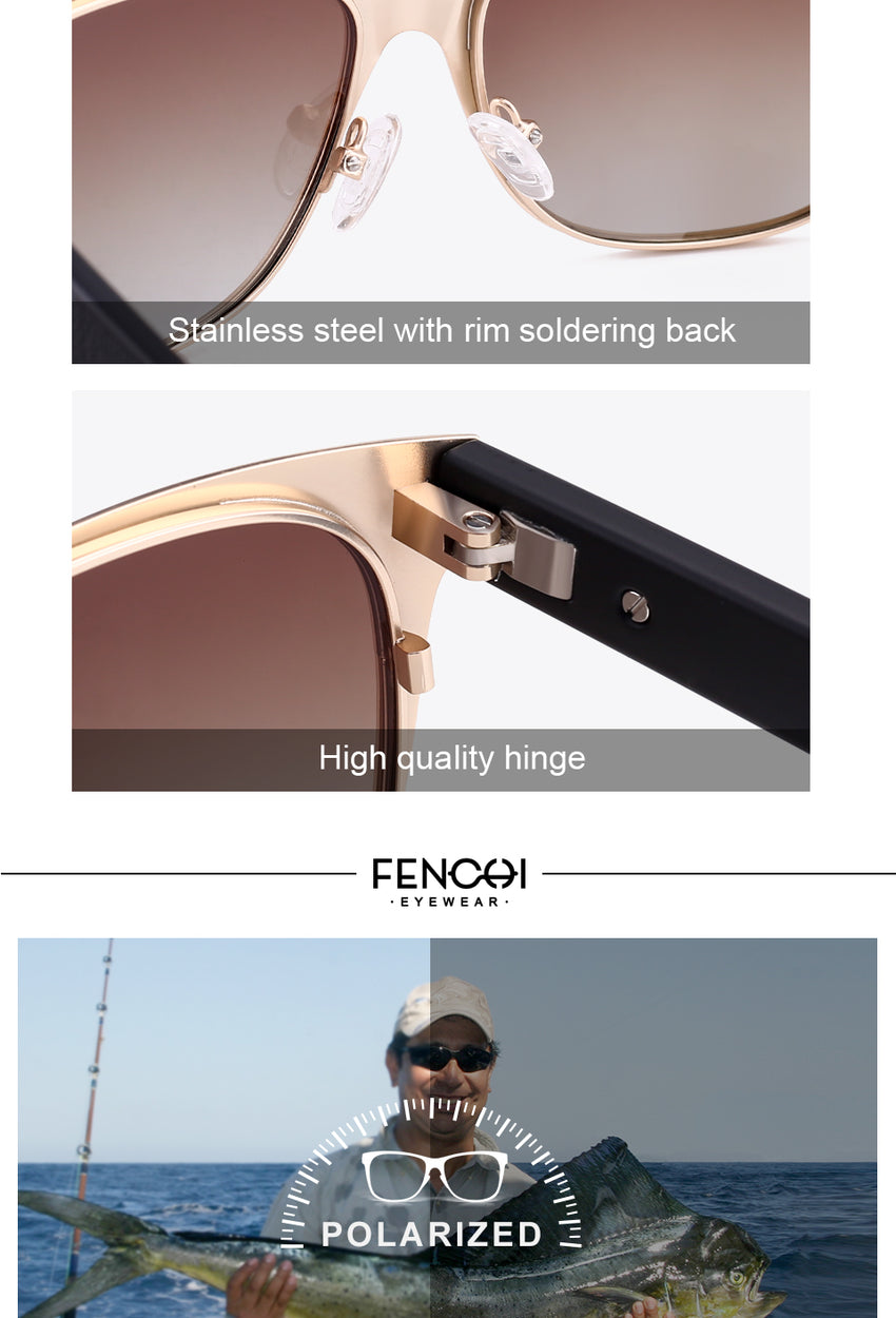 Fenchi Brand Unisex Square Men'S Polarized Sunglasses Eyewear Sunglasses Driving Fhd2120