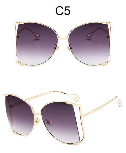 Fashion Oversized Sunglasses Women Big Square Shades Butterfly Eyewear