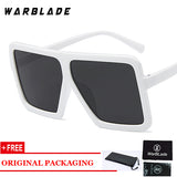 Oversize Square Sunglasses Women Vintage Gradient Lens Shades Men Big Black