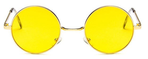 Red Bean Brand Women's Round Sunglasses Red Yellow Blue Green Clear Lens Hip Hop