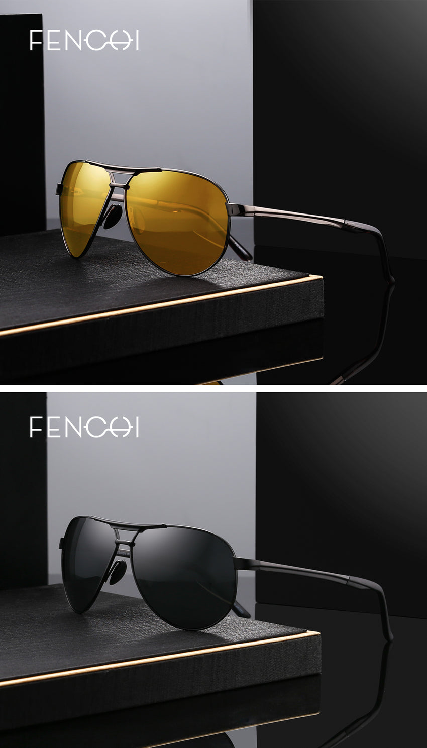 Fenchi Polarized Sunglasses Men Women Metal Uv400 Night Vision Fhd17216