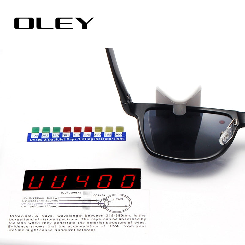 Oley Brand Men'S Polarized Sunglasses Business Classic High Quality Full Frame Aluminum Magnesium Y0934