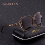 Lmaoclan Brand Women Hd Polarized Oversized Square Gradient Uv400 Sunglasses