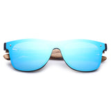 Hu Wood Brand Sunglasses Women Men Flat Lens Rimless Square Frame Gg 8021-1