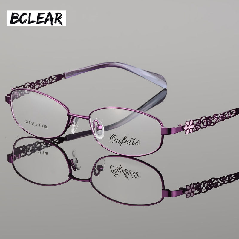 985e1a53dbe Bclear High Quality Metal Alloy Female Eyeglasses Frames Full Rim Optical  Frame Women Myopia Reading Prescription Eyewear Flower 5.0 (3 reviews)