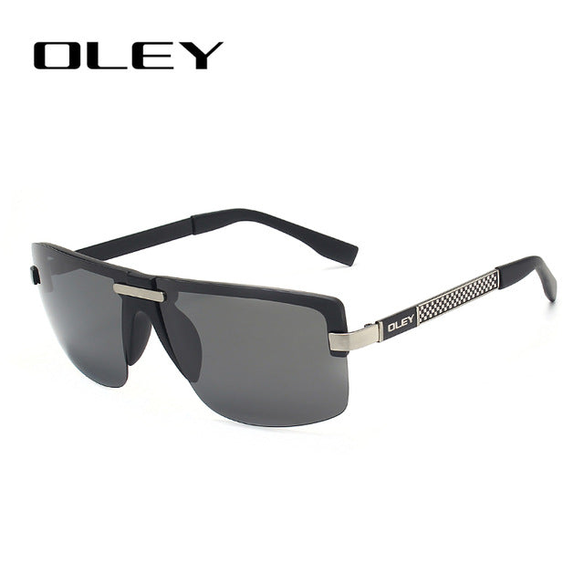 Oley Fashion Men'S Frameless Polarized Sunglasses Classic Hd Pilot Goggles Uv400 Y4909