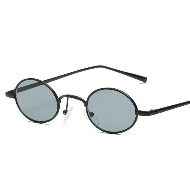 Bylen Brand Unisex Small Oval Sunglasses Women's Metal Frame Vintage Round Shades Uv400
