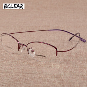Bclear Women Utralight Myopia Presbyopia Glasses Frames Frameless Memory Eyeglasses Frames Metal Alloy Optical Frame Vintage Hot