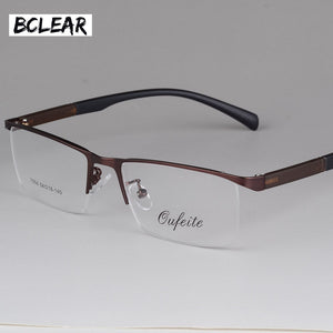 Bclear New Arrival Fashion Glasses Frame Men Eyeglasses Frame Vintage Half Rim Clear Lens Glasses Optical Spectacle Frame