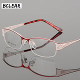 Bclear New Arrival High-Grade Metal Ultra-Light Myopia Presbyopia Elegant Optical Frames For Women Prescription Eyeglasses