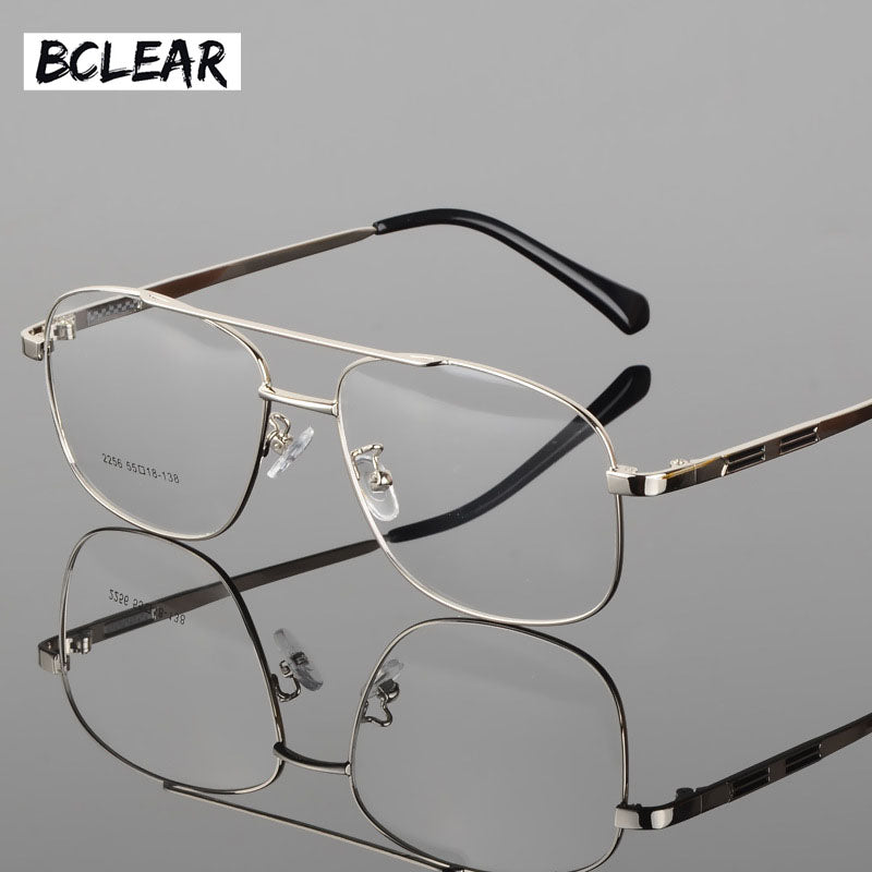 d2eb007d31f Bclear Classic Fashion Alloy Men Optical Frame High Quality Double Bridge  Male Spectacle Eyeglasses Frames Big Face Eyewear Hot 5.0 (10 reviews)