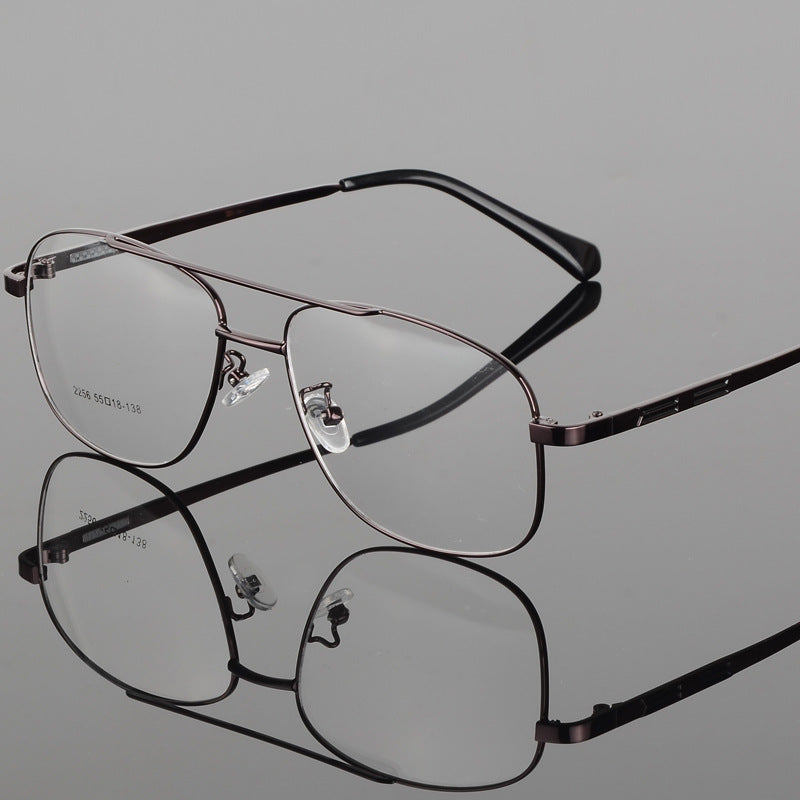 Bclear Classic Fashion Alloy Men Optical Frame High Quality Double Bridge Male Spectacle Eyeglasses Frames Big Face Eyewear Hot