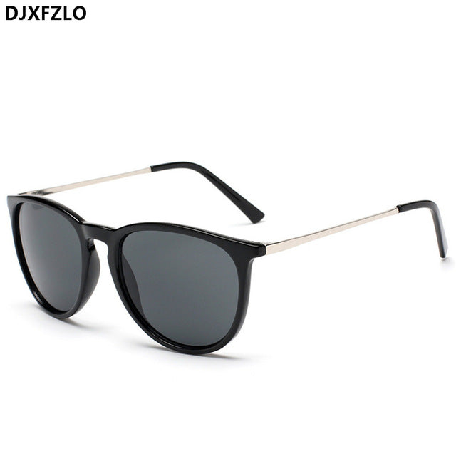 Djxfzlo Brand Unisex Square Sunglasses Retro Round Women Men Alloy Mirror Aa-A05