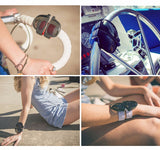 Slap Sunglasses Polarized Mirror Women Slappable Bracelet Men Wristband Fold Shade