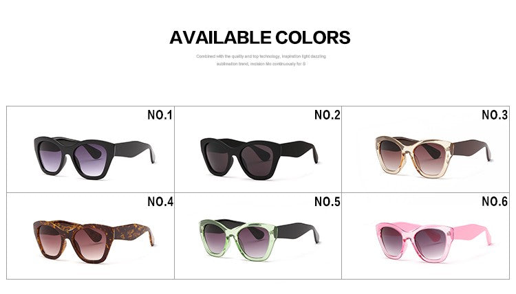Aevogue Brand Women's Butterfly Eyewear Fashion Sunglasses High Quality Ae0187