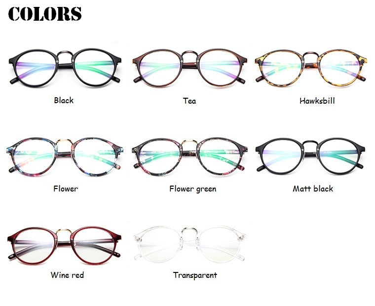 Red Bean Transparent Round Glasses Clear Frame Women Spectacle Myopia Glasses Nerd Kdp001