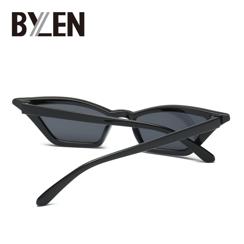 Bylen Brand Women's Vintage Cat Eye Sunglasses Retro Small Frames Uv400 S17077