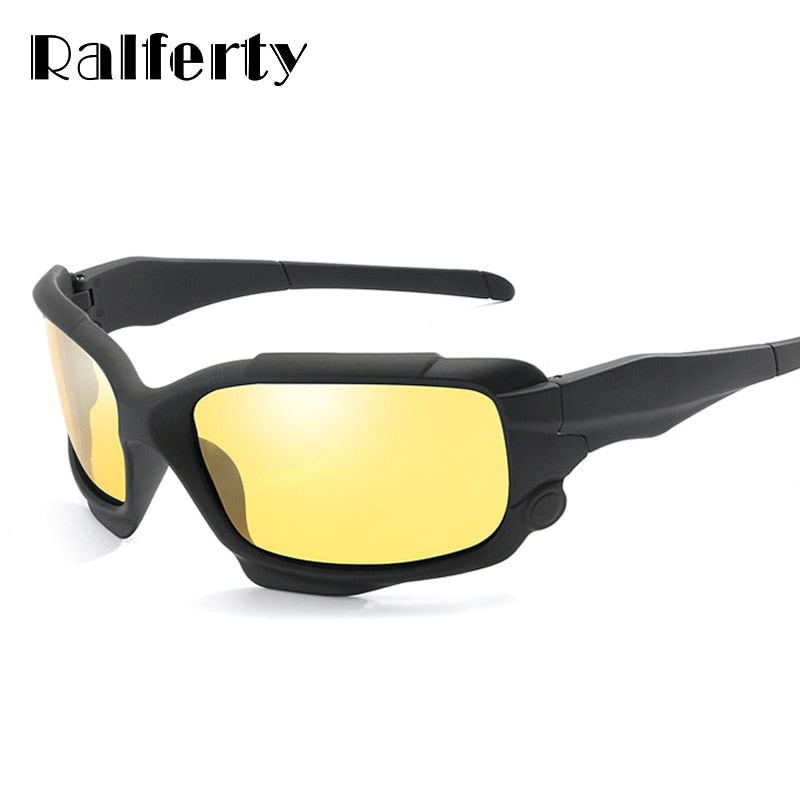 Ralferty Hd Polarized Night Vision Sunglasses Men Yellow Lens Driving Glasses Anti Glare Car Sport Polycarbonate