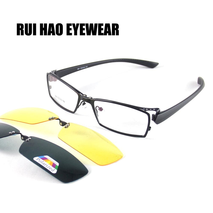 Rui Hao Eyewear Frame And Magnetic Sunglasses Clip On Frame Unisex Glasses Magnetic Polarized 681#