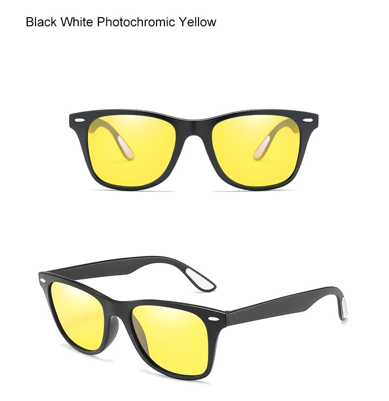 Ralferty Polarized Photochromic Sunglasses Men Women Yellow Brown Night Vision Glasses Driving Male Chameleon K1052