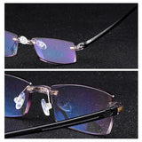 Belmon Rimless Reading Glasses Men Women Diamond Cutting Diopter Glasses Male Presbyopic Eyeglasses +1.0+1.5+2.0+2.5+3.0 Rs611