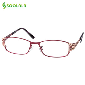 Soolala Brand Women's Reading Glasses Hollow Arm Full Rimmed Diopter Presbyopic Glasses +0.5 1.5 1.75 2.25 To 5.0