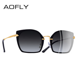 Aofly Brand Design Cat Eye Women Sunglasses Unique Frame Vintage Polarized A123