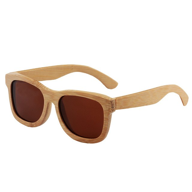 Eyecrafters Brand Unisex Wooden Sunglasses Polarized Retro Vintage Mirrored 100% Natural Bamboo Zm001M
