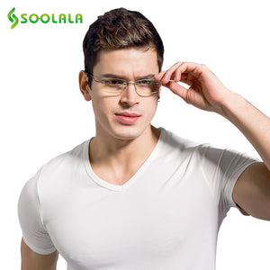 Soolala Brand Unisex Reading Glasses Rimless Ultra-Light Tr90 Resin Presbyopic 1-27-241