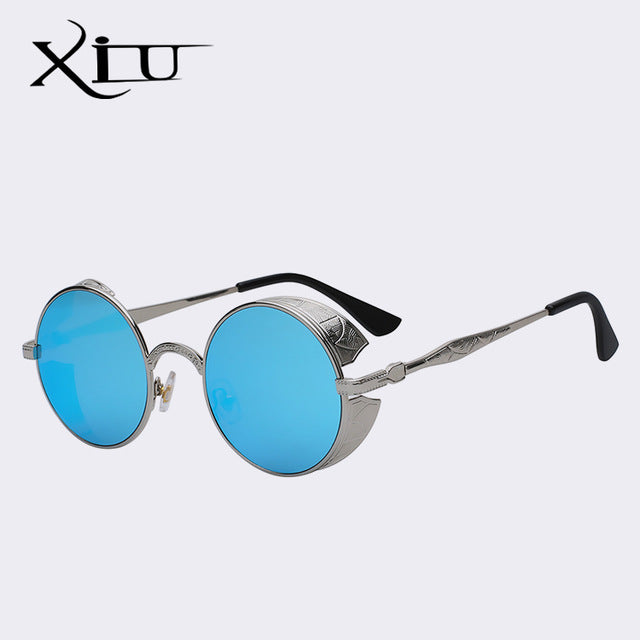 9a3b0d62c93c Xiu Gothic Steampunk Mens Sunglasses Vintage Metal Men Women Round Retro  5.0 (1 review)