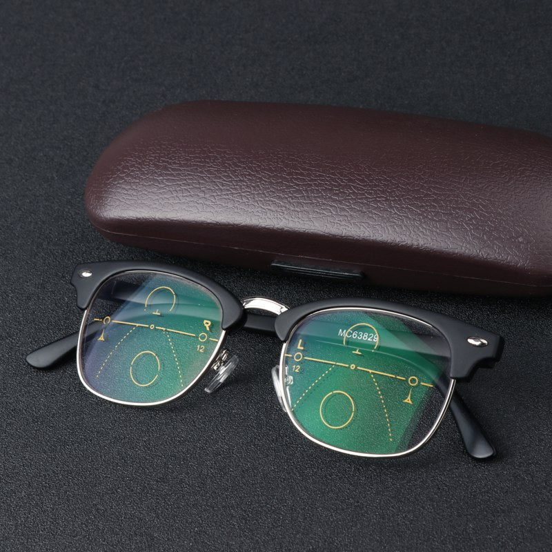 Multi-Focal Progressive Reading Glasses Men Women Diopter Presbyopic Eyeglasses