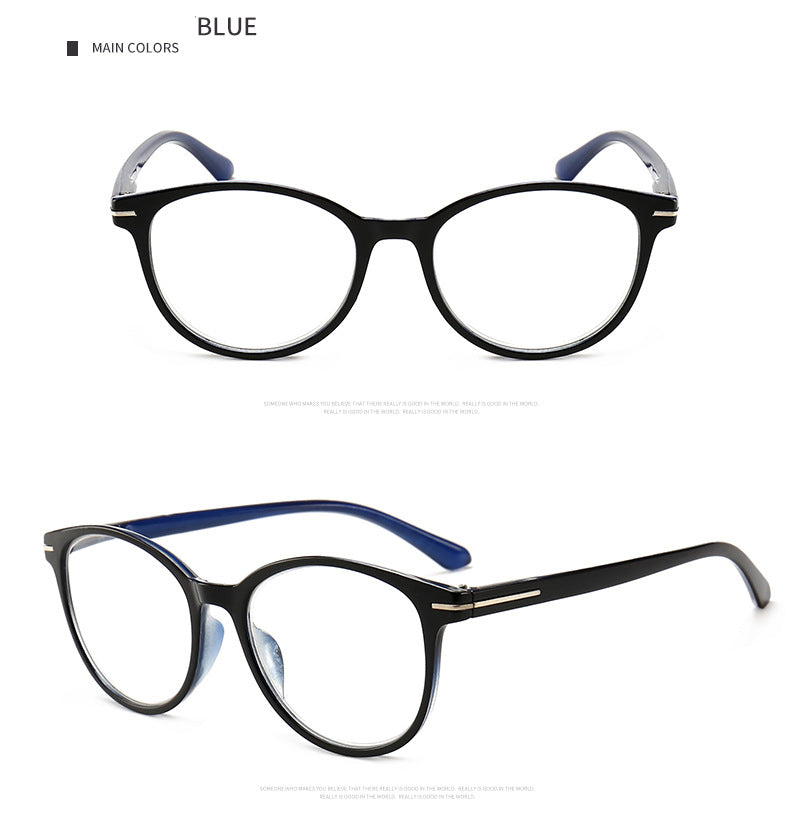 Aoubou Brand Unisex Reading Glasse Hd Resin Lens Young Type Pc Slingshot Large Frame Presbyopic