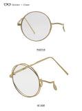 Shauna Anti-Blue Single Eye Glasses Women Double Rims Round Men Sh5971