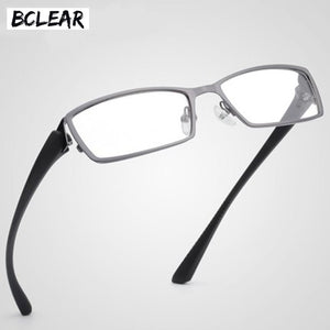 Bclear Men Titanium Alloy Metal Eyeglasses Full Frame Ultra Light Myopia Glasses Frame Full Rim Eyewear Optical Prescription S1976
