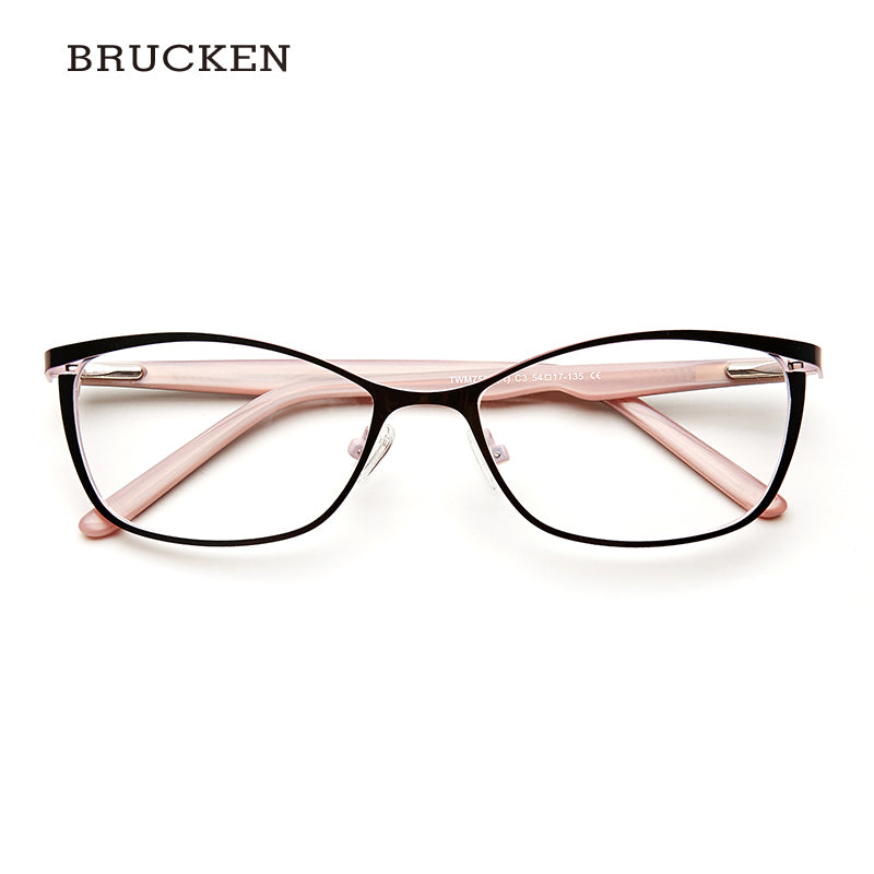 731a2a0be Brucken Brand Metal Glasses Frame Women Cat Eye Prescription Eyeglasses  Pink Full Myopia Optical Twm7559 4.9 (40 reviews)