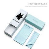 Hepidem Women's Sunglasses Acetate Polarized Transparent Clear Cat Eye T9115