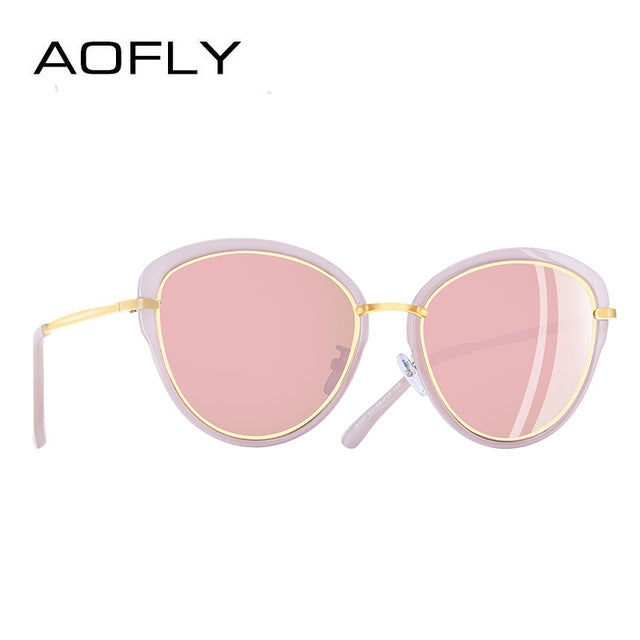Aofly Brand Design Polarized Sunglasses Women Cat Eye A107