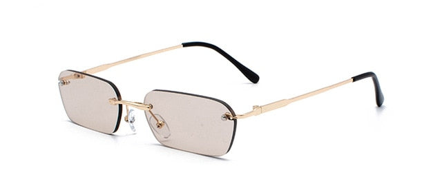 Peekaboo Rimless Rectangle Sunglasses Women 2019 Square Men Small Fb6055