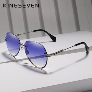 Kingseven 2019 Rimless Women Sunglasses Gradient Lens N802Ns