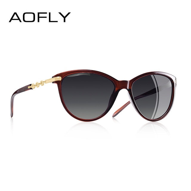 Aofly Cat Eye Polarized Sunglasses Women Gradient A6501