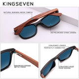 Kingseven Bubinga Wooden Men'S Sunglasses Women Polarized Retro Rimless Nb-5504