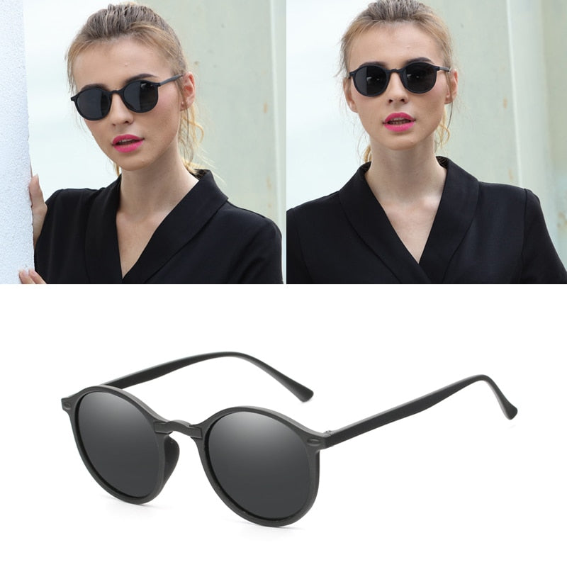 Classic Polarized Sunglasses Men Women Vintage Driving Black Coating C-Kp1061