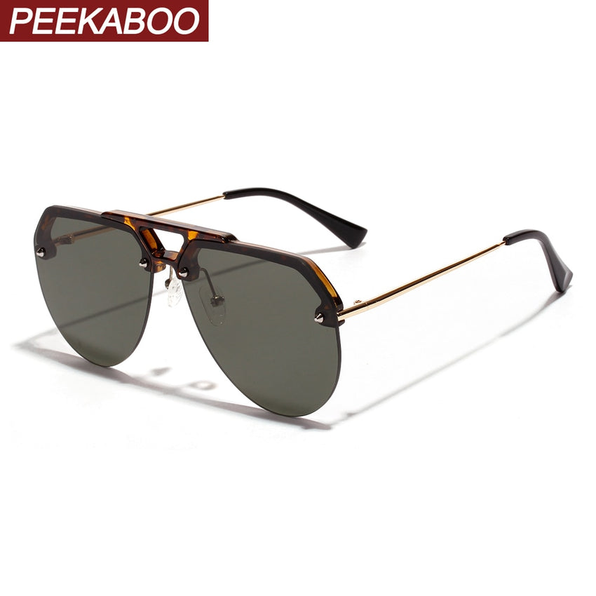 Peekaboo Semi-Rimless Sunglasses Men 2019 Women Fb2086