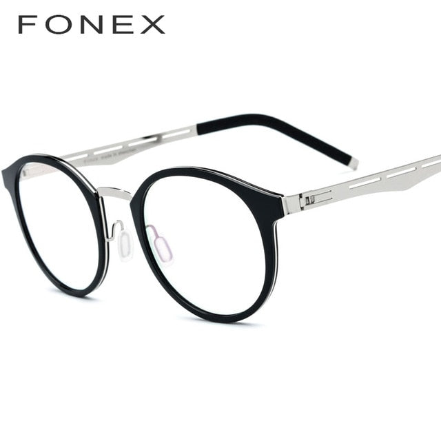 FONEX TR90 Women's Eyeglasess Titanium Alloy Prescription Myopia Optical 517