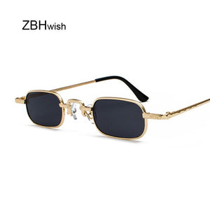 Small Square Steampunk Sunglasses Women Men Metal Gothic High Quality