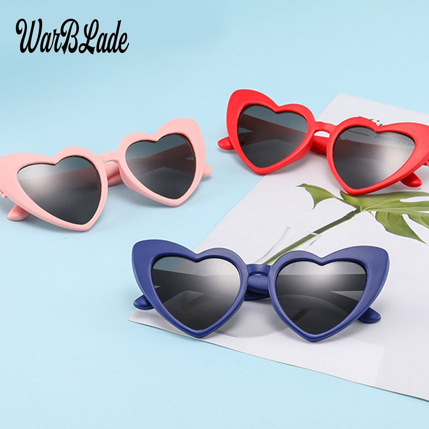 Warblade Tr90 Kids Polarized Sunglasses Heart Girls Boys Silicone Mirror 2019 B-R04