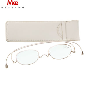 MEESHOW Unisex Eyeglasses Titanium Reading Glasses Frame Paper Glasses Ultra Thin +2.0